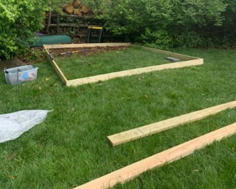 Building shed foundation
