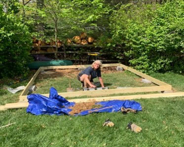 Building she shed foundaiton