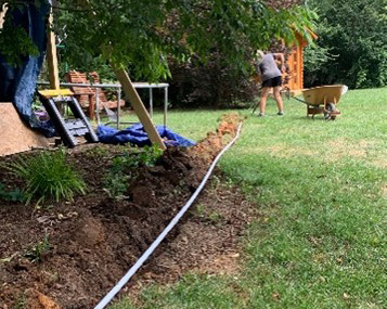 Digging trench for electric cable