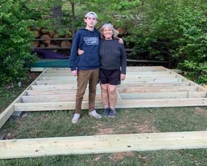 Shed foundation completed