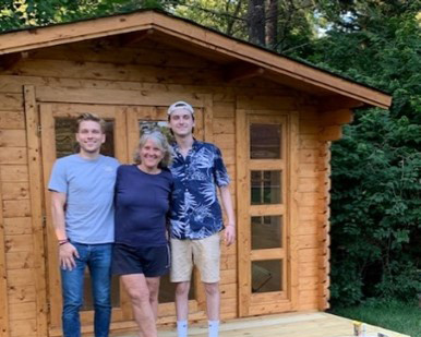 Family picture - finished shed shed