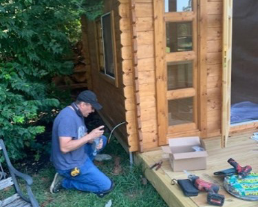 Installing electrical in the she shed